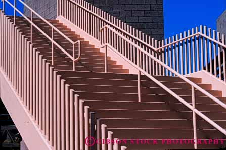 Stock Photo #4624: keywords -  angle angles architecture beige concrete design elevate elevation function geometric geometry height horz metal modern new paint right stair staircase stairs step steps up walk