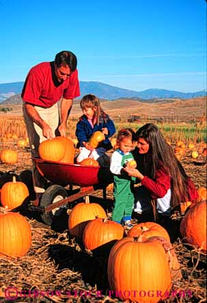 Stock Photo #4632: keywords -  assistance autumn children choose country countryside fall family farm find girl girls grow halloween harvest help holiday orange outdoor outside pick produce pumpkin pumpkins released round season select share sister sisters squash together vert vine