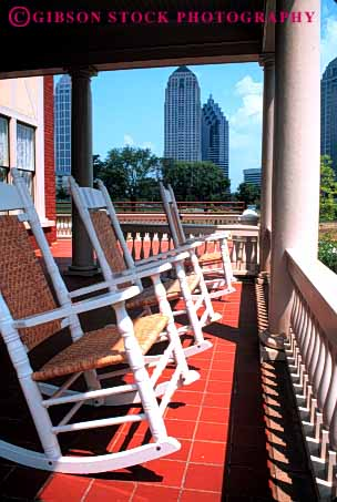 Stock Photo #4650: keywords -  architecture atlanta building chair chairs exterior furniture home house mitchell outdoor outside porch relax rocking vert