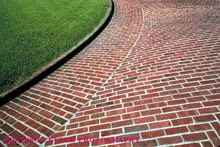 Stock Photo #4666: keywords -  alternate alternating angle art artistic brick brickwork circle construction craft craftsmanship curve decorate decorated decorative grid horz line masonry pattern perpendicular radius rectangle rectangles right round sidewalk stone texture turn wall