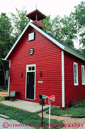 Stock Photo #4669: keywords -  americana architecture building center class country countryside design education elk historic history house learn learning michigan old one rapids red room rural school schoolhouse schoolhouses small style tradition traditional vert vintage