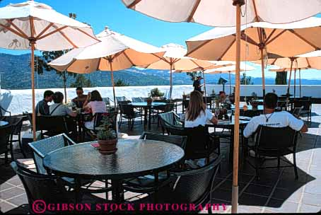 Stock Photo #4705: keywords -  cafe dine dining dinner eat eating food group horz meal napa outdoor outside restaurant serve service social sterling summer umbrella umbrellas winery