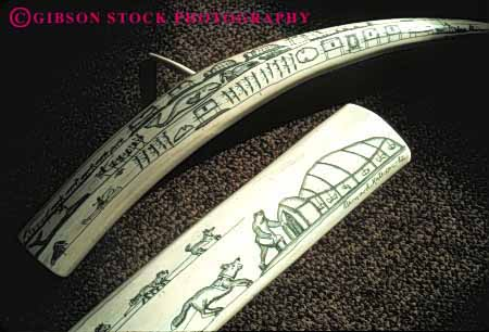Stock Photo #4777: keywords -  alaska american art carve carved craft crafted craftsmanship create eskimo etch handmade horz indian ivory native nome product scrimshaw tooth tradition traditional tusk walrus