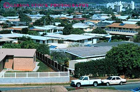 Stock Photo #4813: keywords -  area building city civilization close community convert cover crowd crowded engulf expand grow growing growth hawaii home homes horz house houses metropolitan neighborhood oahu out over residential sprawl spread take tight together urban urbanization