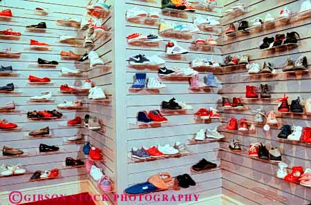 Stock Photo #4849: keywords -  advertise business commerce consume consumerism display economics economy enterprise exhibit horz inventory merchandise merchandising pair present product products promote retail retailer sale sales sell selling shoe shoes store trade