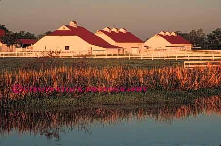 Stock Photo #4881: keywords -  agriculture barn building clean country countryside dawn farm fence george grass green historic horse horz marsh open park pasture ranch range rangeland rural space stable swamp texas wetland