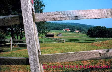 Stock Photo #4886: keywords -  agriculture barn building clean country countryside farm fence grass green horse horz open pasture pennsylvania ranch range rangeland rural space stable