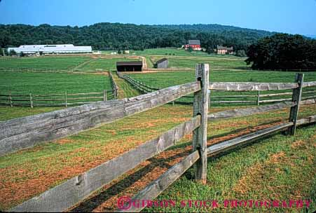 Stock Photo #4891: keywords -  agriculture barn building clean country countryside farm fence grass green horse horz open pasture pennsylvania ranch range rangeland rural space stable