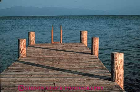 Stock Photo #4905: keywords -  boat california calm dock horz lake landscape pattern row scenic shore tahoe water wood