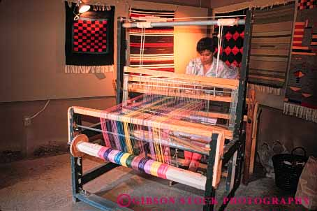 Stock Photo #4964: keywords -  americana antique blanket craft equipment fabric horz loom old string tapestry thread tool tradition traditional use vintage weave weaving woman yarn
