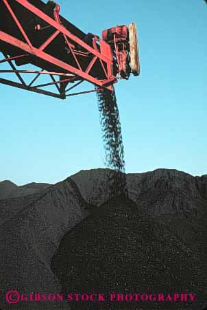 Stock Photo #5025: keywords -  coal conveyor dumping energy industry natural pile resource vert