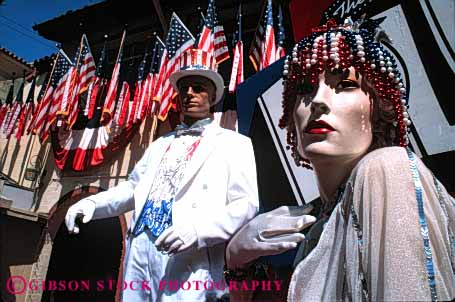 Stock Photo #5157: keywords -  allegiance america american americana and artificial blue citizen country couple dedicate dedicated face fake flag head horz imitation man mannequin nation national nationality patriotic pledge red states united white woman