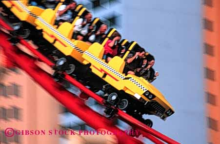 Stock Photo #5185: keywords -  action blur blurred coaster downhill dynamic express fair fast festival fun horz las manhattan motion move movement moving nevada play ride roller rollercoaster rollercoasters scare scary scream speed summer thrill vegas yellow
