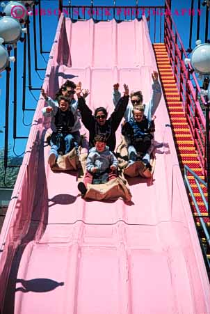 Stock Photo #5189: keywords -  amusement arms downhill fair festival fun groove hands mothers park pink plastic play ramp ride scare scary scream shoot slide slip slippery summer synthetic thrill vert