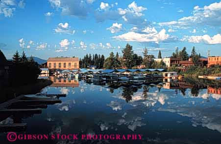 Stock Photo #5197: keywords -  america american buildings city cloud clouds community dawn flat harbor horz idaho lake marina neighborhood quiet reflection river rural safe safety sandpoint secure security small smooth still town water