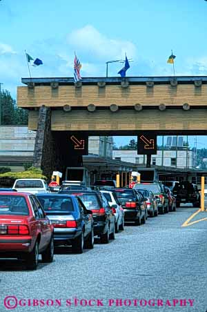 Stock Photo #5298: keywords -  access blaine booth border boundary canada car check control country cross crossing customs entry gate government immigrate immigration international line of patrol port states united vert wait washington