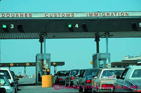 Stock Photo #5301: keywords -  access booth border boundary canada car champlain check control country cross crossing customs entry gate government horz immigrate immigration international line new of patrol port states united wait york