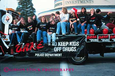 Stock Photo #5348: keywords -  adolescence adolescent border california child children contraband controversial controversy dare display drug drugs education enforcement float government horz illegal import law officer parade pot program reefer show team uniform unity yreka
